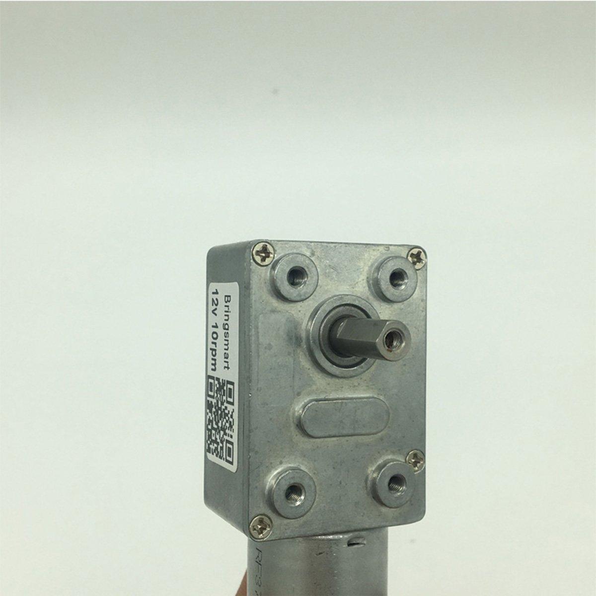 Bringsmart 6V Double Shaft Gear Motor 12V 24V DC Dual Output Shaft Reducer Self-lock (JGY-370 6V 6rpm) by Bringsmart (Image #2)