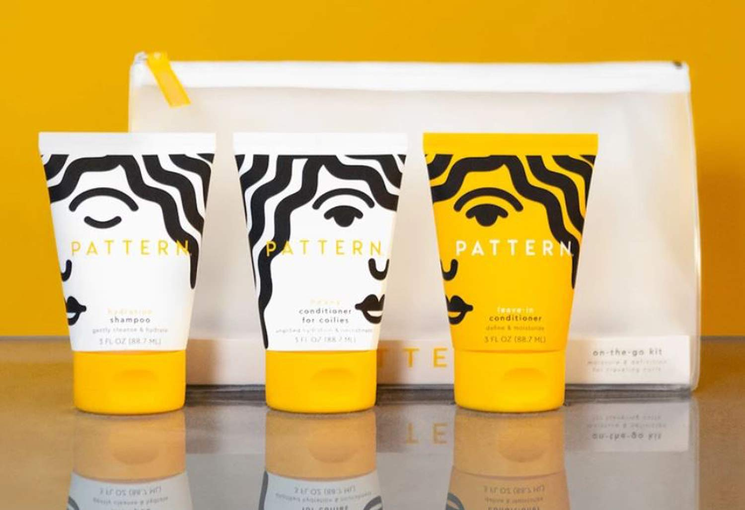 Pattern On-The-Go Hair Care Kit! Includes Hydration Shampoo, Heavy Conditioner And Leave-In Conditioner! Shampoo And Conditioner For Curly Hair! Perfect For Curlies, Coilies & Tight Texture Hair!