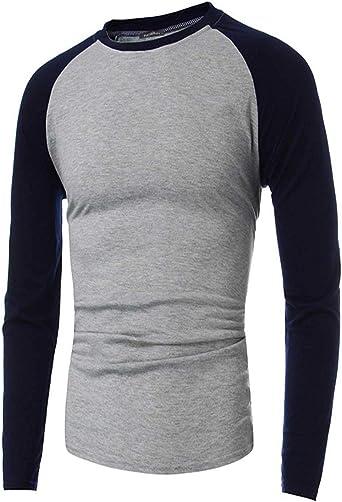 INCERUN - Camiseta de béisbol para Hombre, Manga Larga, Estilo Casual - - Small: Amazon.es: Ropa y accesorios