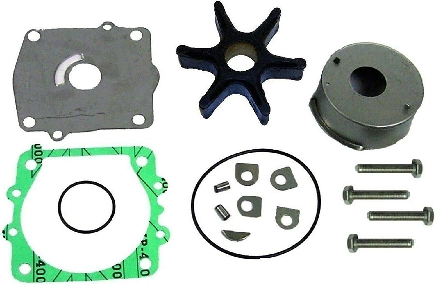 EMP Yamaha 115 & 130 hp 1993-2004 V4 2 Stroke Water Pump Impeller Kit Replaces 18-3312 6N6-W0078-00-00 Read Item Description for Applications