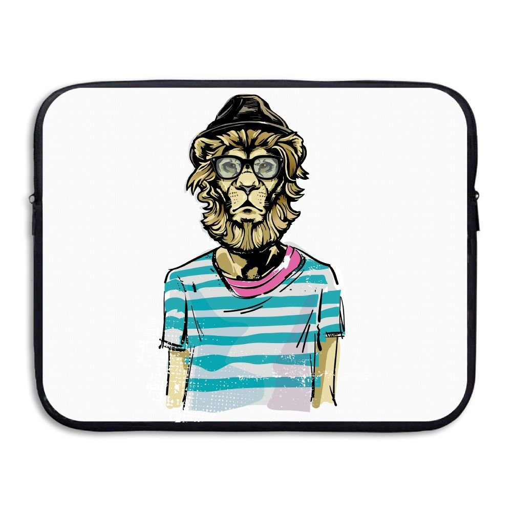 Reteone Laptop Sleeve Bag Mr Glasses Lion Art Cover Computer Liner Package Protective Case Waterproof Computer Portable Bags