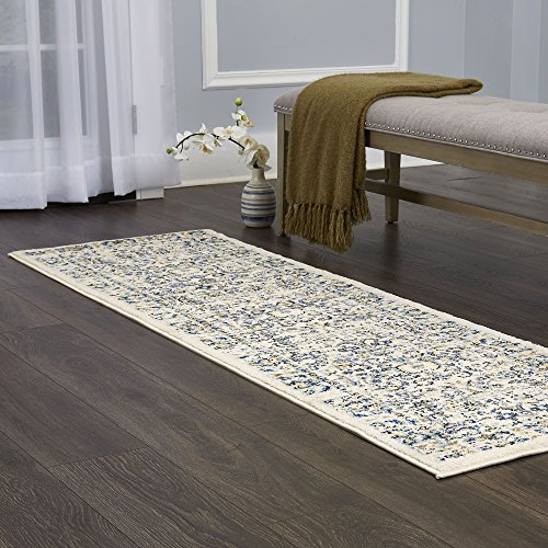 Home Dynamix Vintage Desa Area Rug | Trendy Style, Distressed Finish | Durable Polypropylene Area Rug | Ivory | Fade and Stain Resistant, Easy to Clean, 26