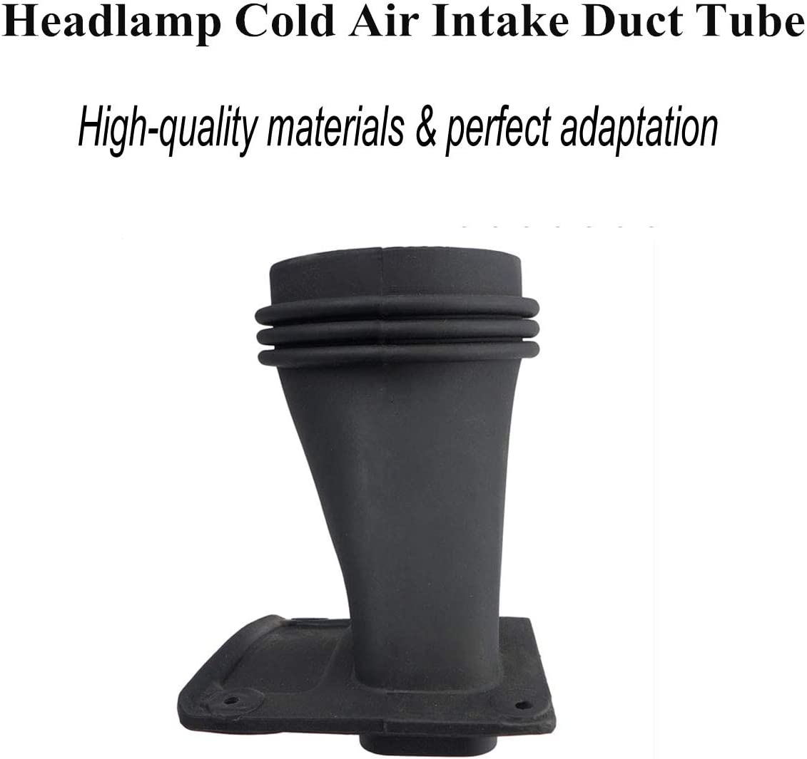 77072385 Headlamp Air Inlet Intake Duct Tube,Fits for Dodge Challenger 2015 2016 2017 2018 2019 2020,Headlamp Tube Provides Horsepower and Torque Gains Under Varying Atmospheric Conditions Black