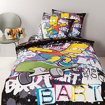 linge de lit simpson Belltex Simpsons Parure housse de couette BART Graffiti 240 x 220  linge de lit simpson