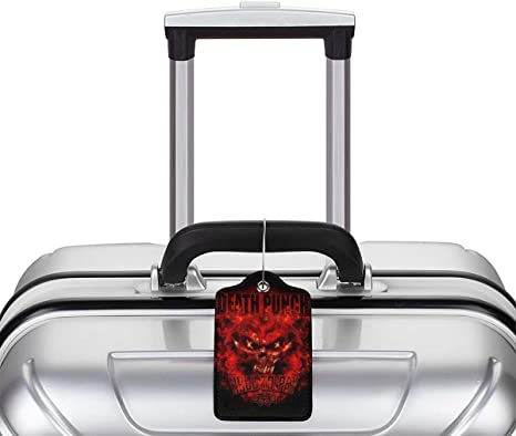 5FDP Music Leather Luggage Tag Travel ID Label For Baggage Suitcase
