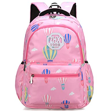 b30af41354 Primary Middle School Bag Backpack for Boys Girls 7-14 Years Old with Hot  Air Balloon Pattern