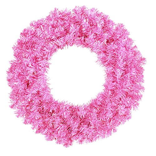 Allstate Unlit Sparkling Hot Pink Artifi - Pink Artificial Wreath Shopping Results