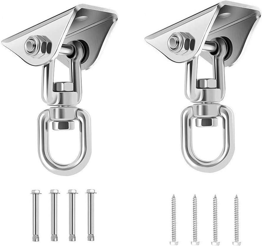 2* WINOMO Heavy Duty Ceiling Mount Hook Hanger Yoga Swing Suspension Strap Props