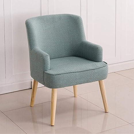 Amazon.com: WYY - Sillón individual de lino, sofá de salón ...
