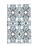 Interestlee Fleece Throw Blanket Traditional House Decor Medieval Persian Palace Flower Leaf Shapes Arabian Decor Artwork Light Blue