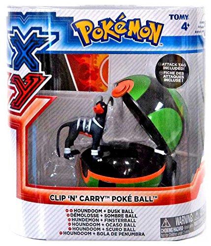Pokemon X & Y Clip n Carry Pokeball Houndoom & Dusk Ball Figure Set (Dusk Ball)