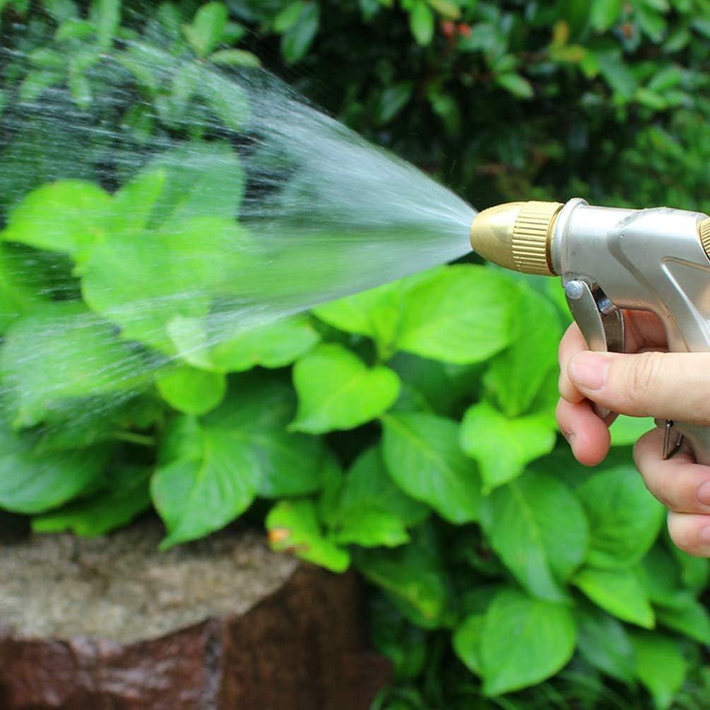 Kuncg Pistola da Giardino il Metallo per lirrigazione Pistola Spray Regolabile Spruzzatore Manuale per Irrigazione Prato Lavaggio Auto Pet Balneazione Pulizia Marciapiede