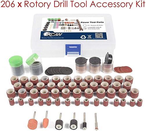 "7 piezas 1//2/"" lijado tambor Kit Dremel Compatible multi Accesorio herramienta rotativa"