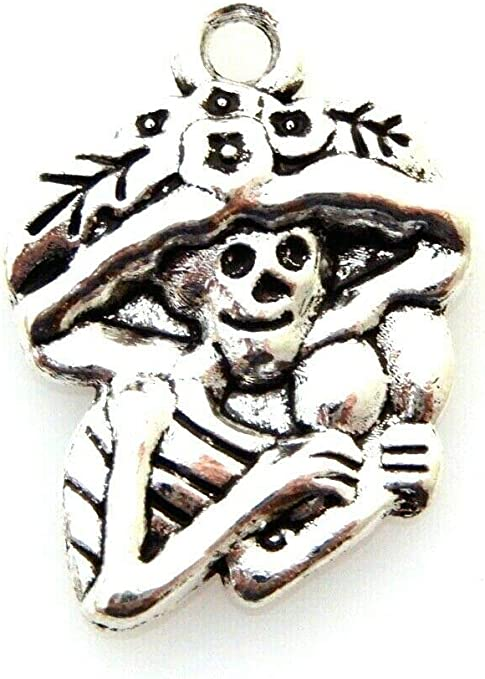 Halloween witch themed charms for crafts or jewellery making x 10 tibetan silver