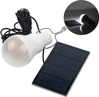 Portátil Bombilla LED Solar del impuesto: 120LM Lámpara de ...