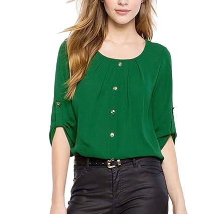 Mujer blusa camiseta,Sonnena ❤ Camisa de mujer de moda Lady Loose Blusa casual
