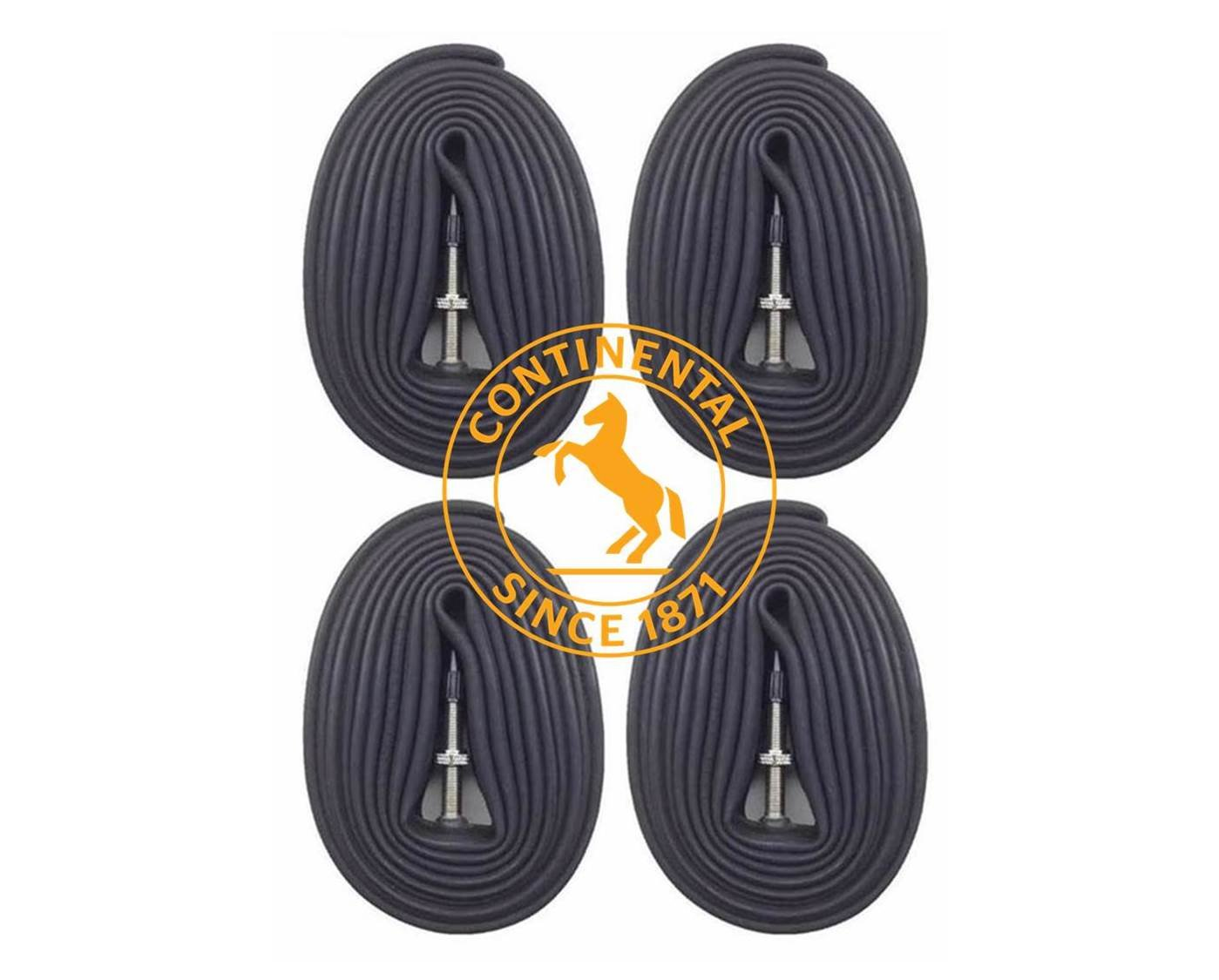 Continental Race 28'' 700x20-25c Bicycle Inner Tubes - 42mm Long Presta Valve - 4 PACK