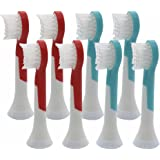 SoniPRO Kids (8 Pack) Compact Replacement Sonic Toothbrush Heads for Sonicare For Kids Hx6032/94, Fits HX6311/07, HX6311/02
