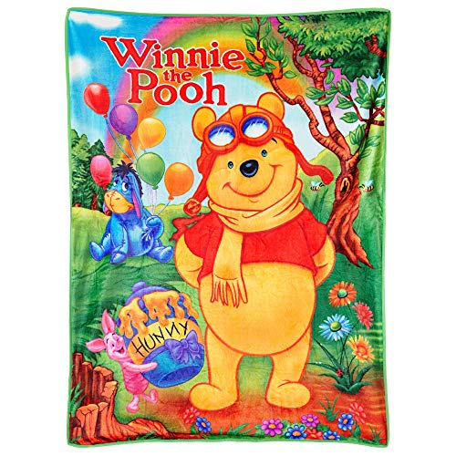 (Winnie the Pooh Disney and Friends, Piglet, Eeyore, Rainbow, Silky to The Touch, Kids Throw Blanket)