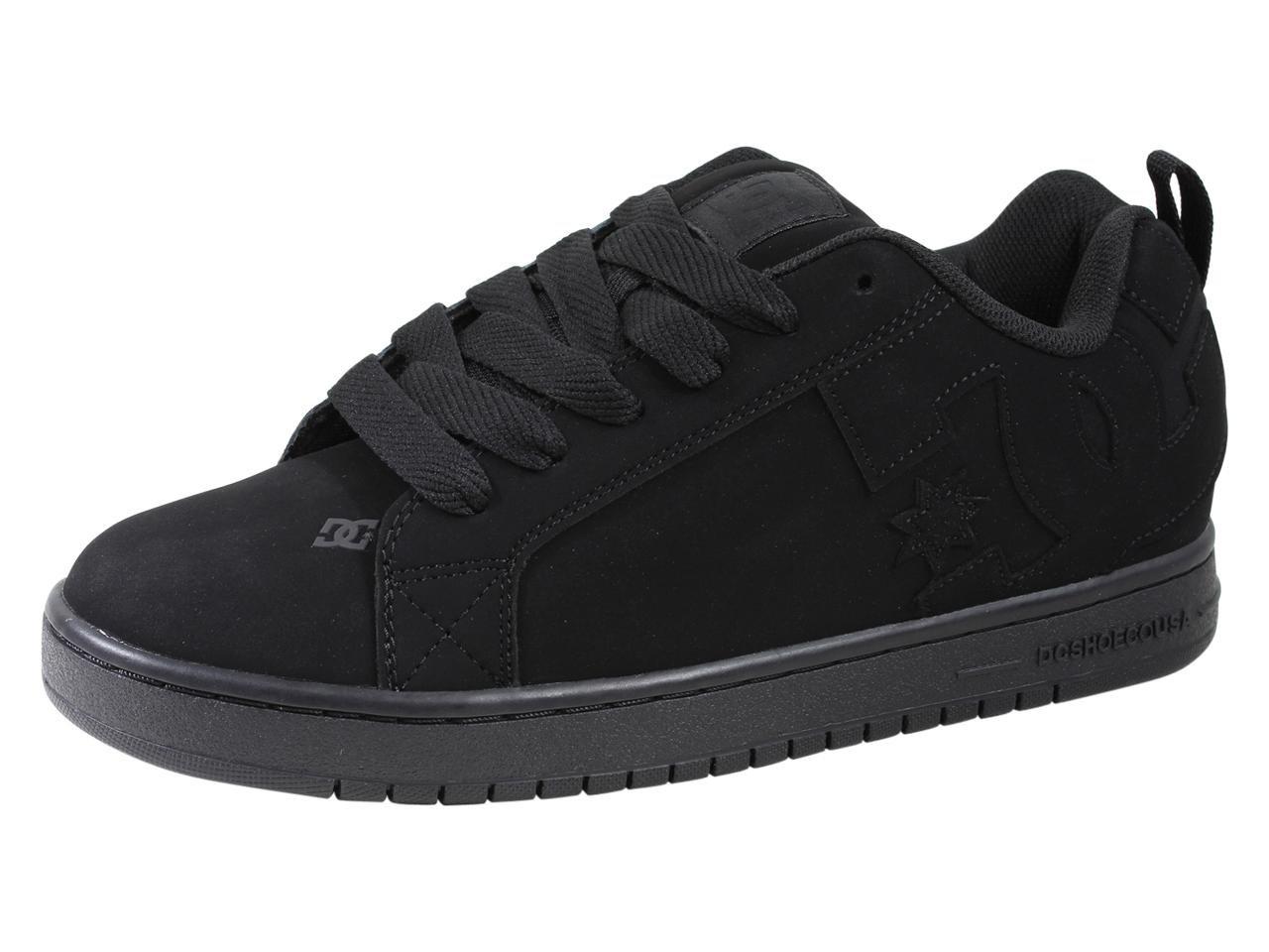 DC Shoes Men's Court Graffik Shoes Black/Black/Black 9.5