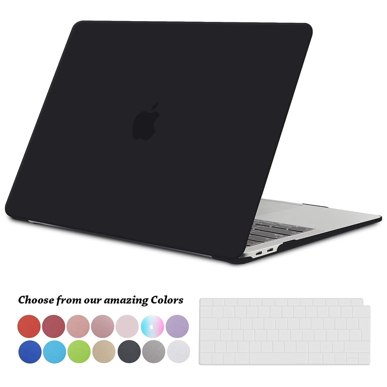 Plastique Mate Rigide /Étui avec Housse de Clavier en Silicone pour MacBook Pro 13.3 Pouces Retina Mod/èle Noir Clair Ultra Mince S/érie TECOOL Coque MacBook Pro 13 Pouces Retina, A1502 and A1425
