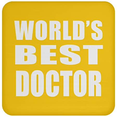 Worlds Best Doctor - Drink Coaster Athletic Gold Posavasos ...