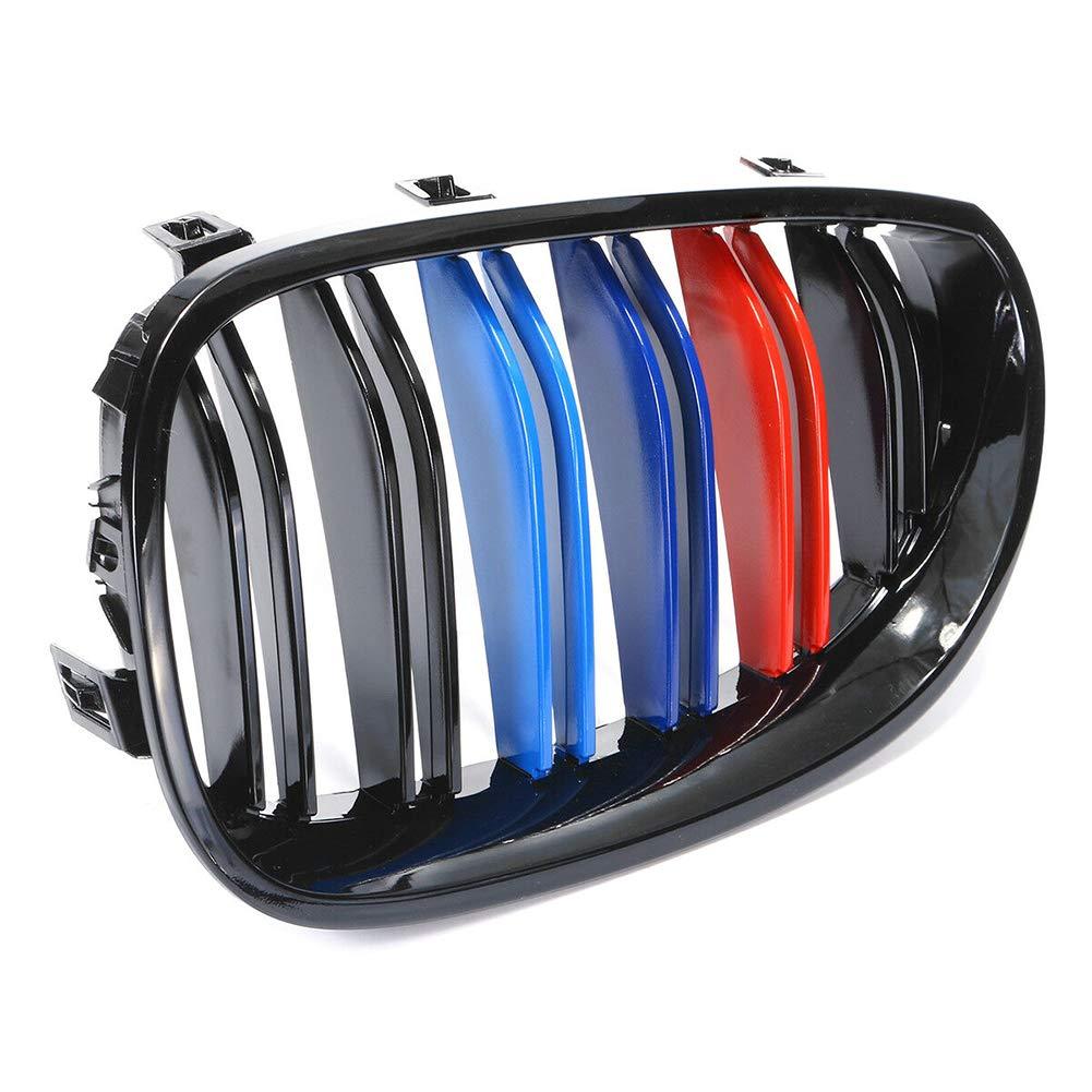 colore nero lucido una coppia 33 x 19 x 5,9 cm azfdxgfc Griglia anteriore per BMW E60 E61 Serie 5