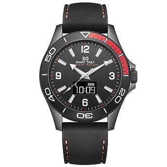 X5 - Reloj inteligente híbrido de fibra de carbono, resistente al agua, para hombre