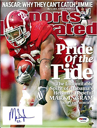 Mark Ingram Autographed Sports Illustrated Magazine Alabama Itp 105146 PSA/DNA Certified Autographed College Magazines
