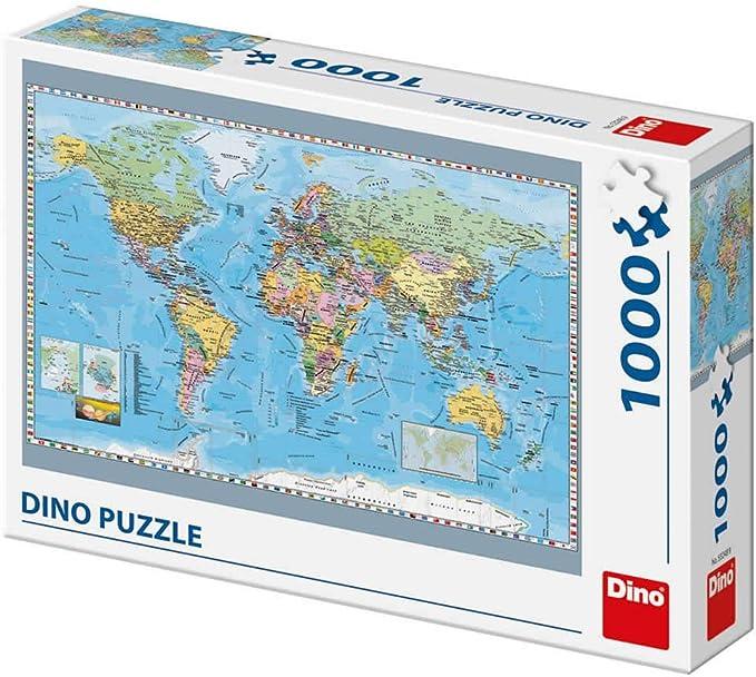 Dino Toys 532489 - Puzzle de juguete con mapa político del mundo , color/modelo surtido: Amazon.es: Juguetes y juegos