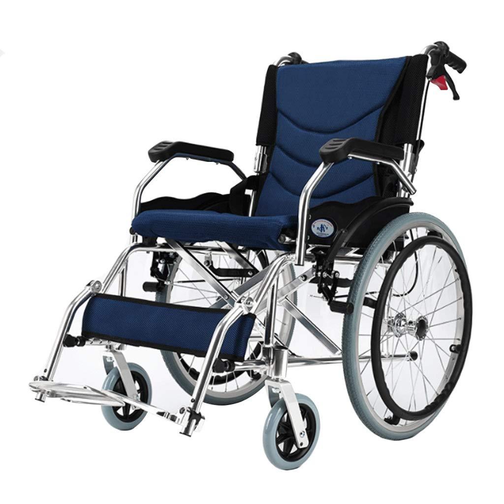 付帯輸送車椅子、アルミ製軽量折りたたみ式フレーム推進型トラベルチェア B07MXHJQG1
