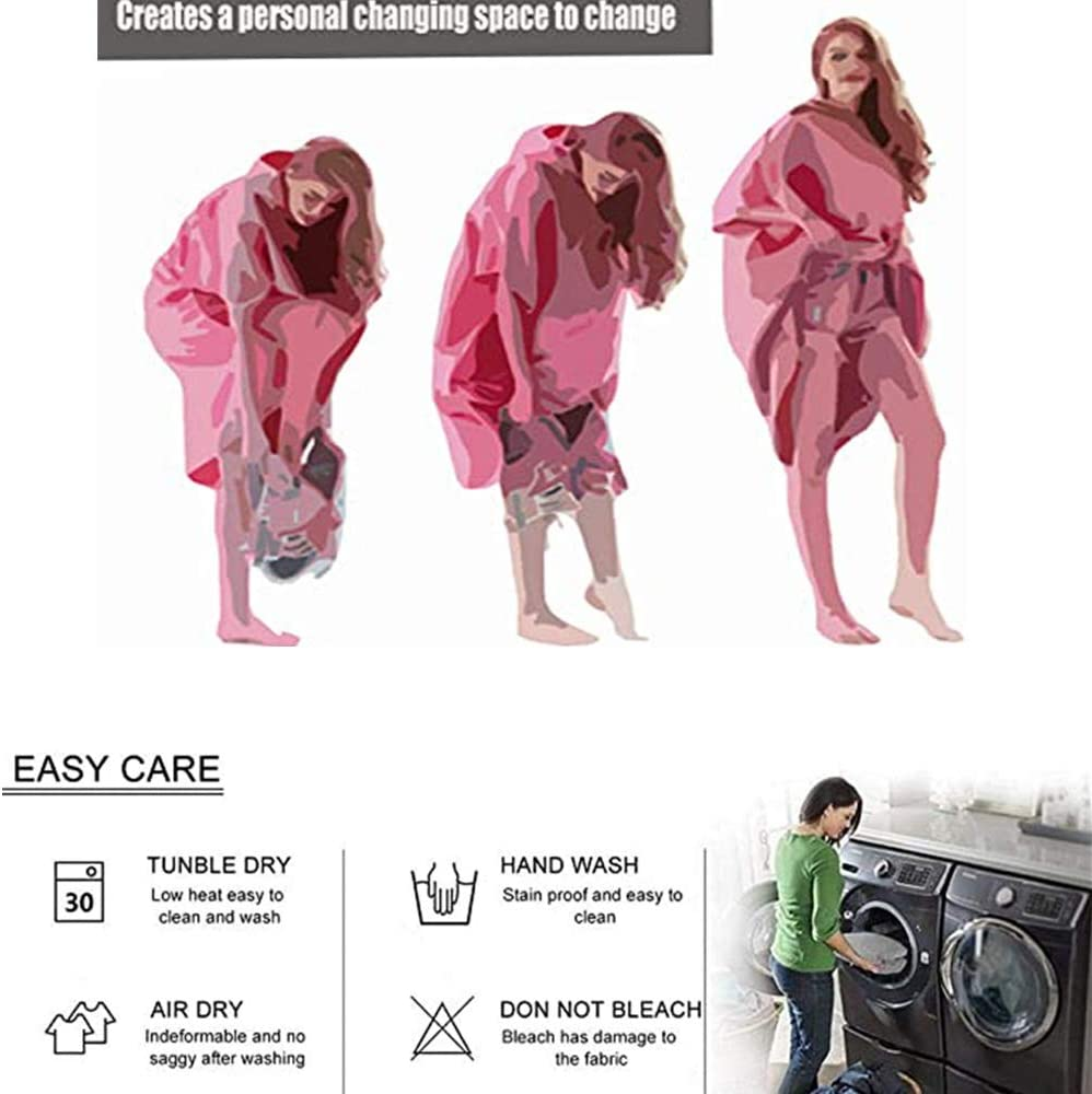 Treer Swim Towels Changing Robe Hooded 3D Summer Printing Poncho Towel Microfibre Quick Dry Light Weight Towel for Women Men Beach Swimming Surfing Wetsuit Camping