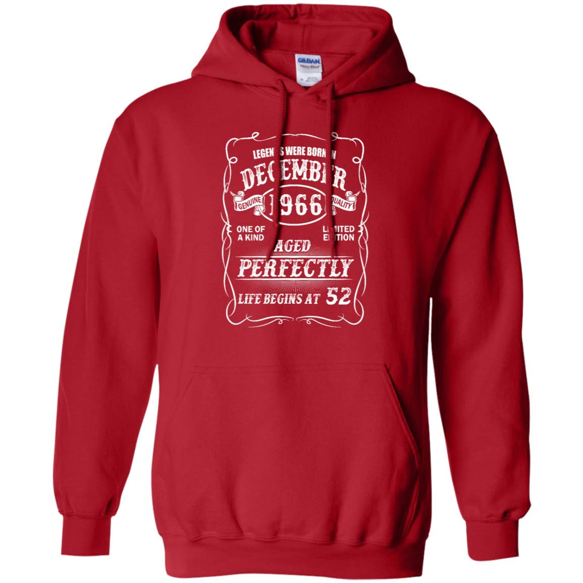 Red Small Awesome Shirts Funny Legends December 1966 Life Begins at 52