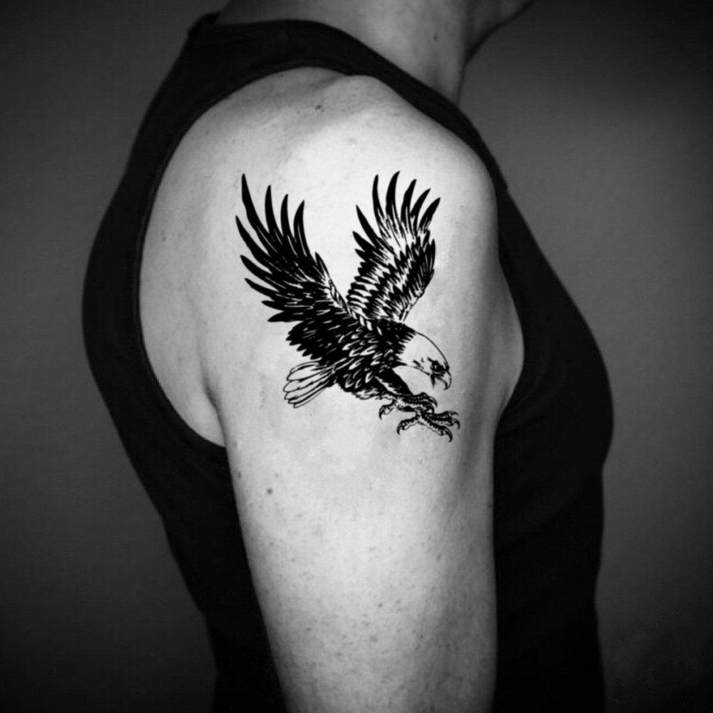 Tatuaje Temporal de Águila americana (2 Piezas) - www.ohmytat.com ...