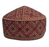 NDA Eid Kufi Muslim Men's Kufi Kashmir Handmade Prayer Cap Muslim Hat (Copper)