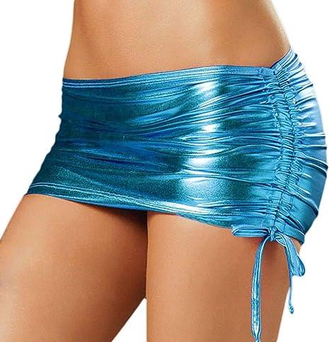 QBXDQ Falda Corta Falda Mujer PVC Pole Club De Baile Desgaste ...