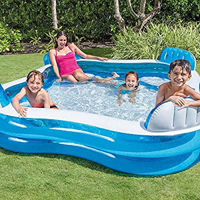 Centro de natación de 4 Asientos Piscina de la Sala Familiar Piscina Inflable Familiar Piscina Hinchable para niños Piscina Inflable para niños Adultos Sala Familiar: Amazon.es: Jardín