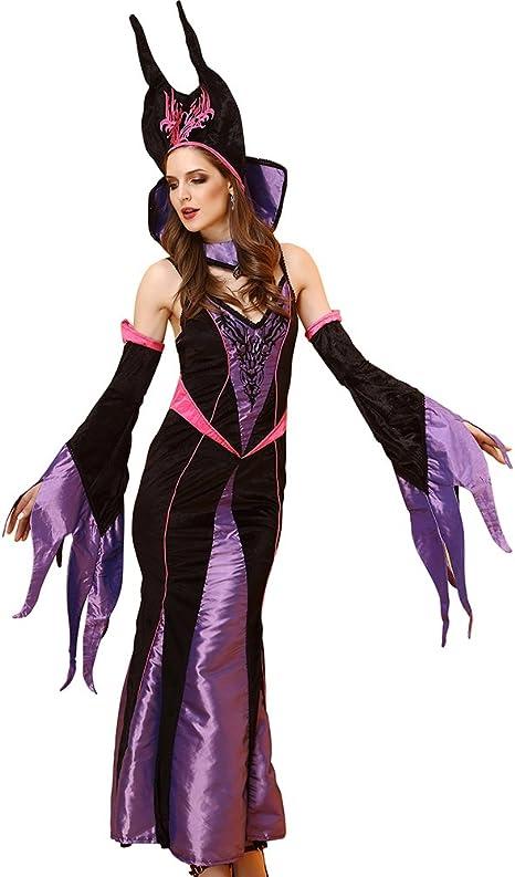 FIZZENN Disfraz de Bruja magnífica para Mujer Vestido y Tocado ...