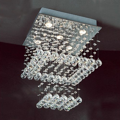 Light 2 Tier Crystal Chandelier - 9
