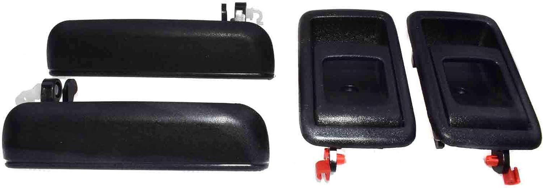 eGang 69220-0A010 Lot de 4 poign/ées de porte avant gauche droite pour 95 96 97 98 Toyotas Tercel Noir
