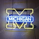 Desung Brand New 20''x16'' Sports Team MW Michigan Neon Sign (Various sizes) Beer Bar Pub Man Cave Business Glass Neon Lamp Light DB205