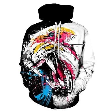 design di qualità 0c8a2 d8e78 Okri-ONe Felpe Colorate Tiger Hoodies Uomo Donna 3D Felpe ...