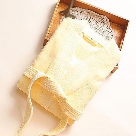 Albornoz para mujer 100% algodón de lujo, bolsillos para toalla de baño, cinturón de corbata, vestido de noche, spa hotel Small 4: Amazon.es: Hogar
