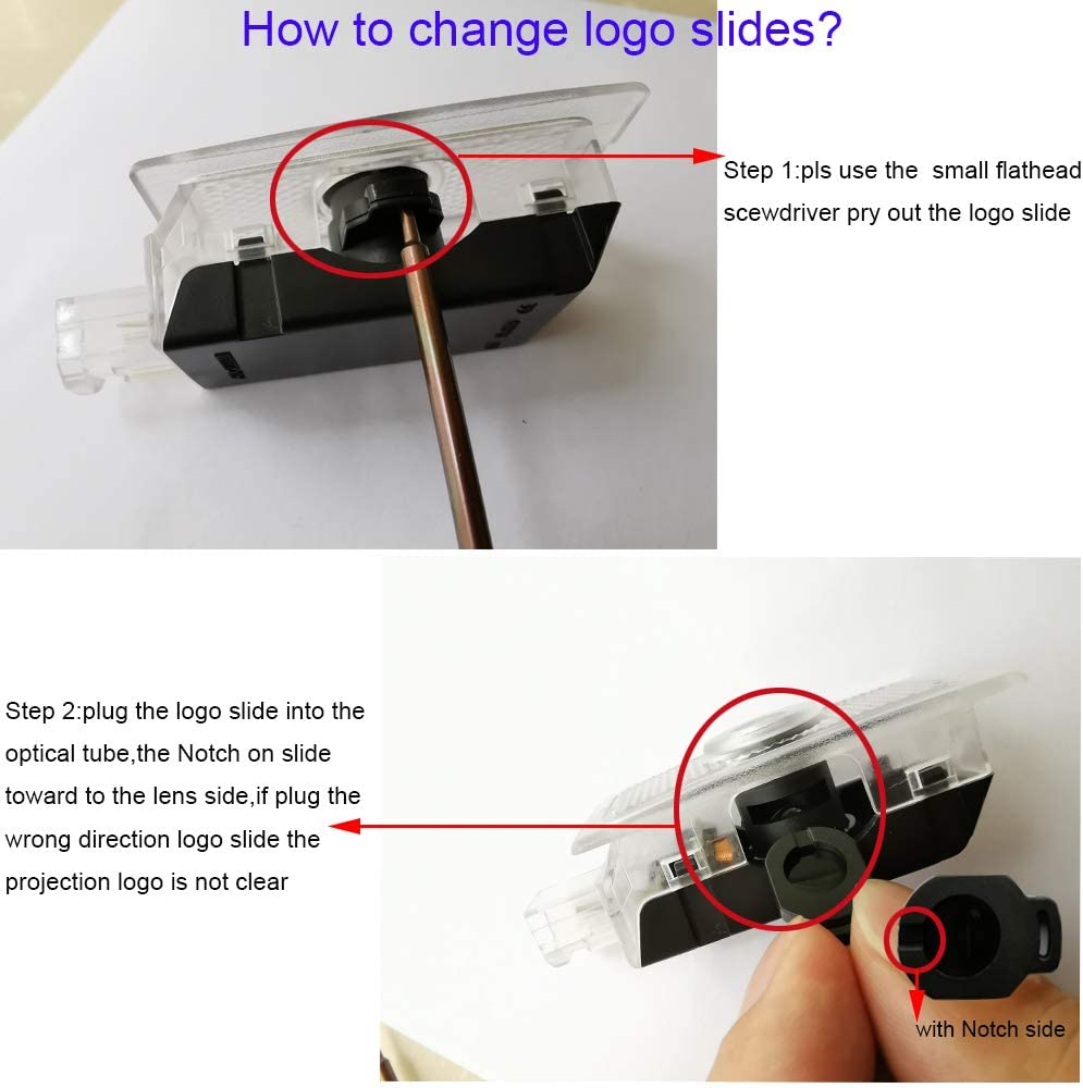 2pc Car Door Lights Ghost Shadow Projector Laser Logo light For Chrysler 300//C//200C 300S 2005-2019 for Chrysler Sebring 2001-2010year,for Chrysler 200 2011-2014year-with no fading color film