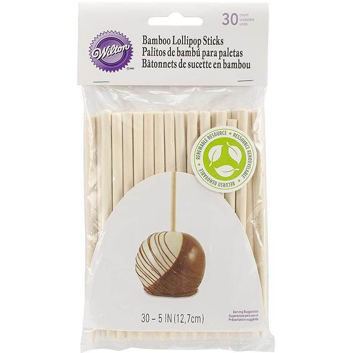 :Wilton 1912-1931 30/Pack Bamboo Lollipop Sticks, 5-Inch