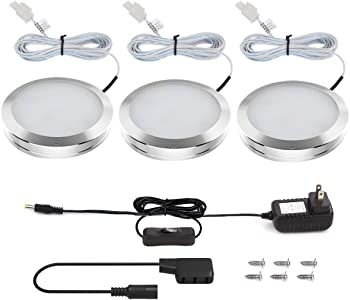 3-Sets Lighting Ever 510lm LED Under Cabinet Lighting Kit