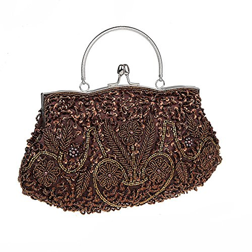 Harson Brown Beaded Soft Premium Sequin Colors Vintage Available Bag amp;Jane Evening 11 Handbag Clutch Seed HnTWHRq