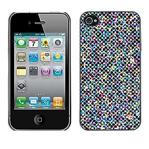 Print Motif Coque de protection Case Cover // V00002477 Cmyk cuatro puntos de color de trama // Apple iPhone 4 4S 4G