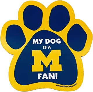 product image for NCAA Michigan Wolverines Paw Print Car Magnet