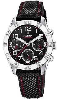Festina Mit Uhr Edelstahl F203452 Quarz Armband Jungen Chronograph 34jL5AR